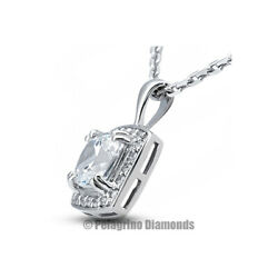 2.17 TCW E-SI1 Cushion Cut Earth Mined Certified Diamonds Platinum Halo Pendant