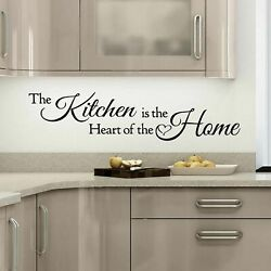 Wall Stickers Quotes The Kitchen is a Heart of the Home Art Decal removable DIY GBP 3.99