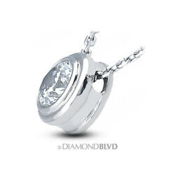 1.92ct ESI1 Round Cut Earth Mined Certified Diamond 18K Gold Solitaire Pendant