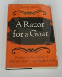 A Razor for a Goat Elliot Rose FIRST EDITION BOOK 1962 witchcraft witches occult