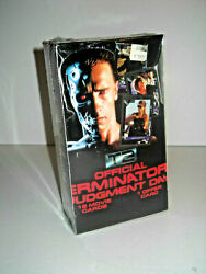 LARGE BOX 1991  Terminator 2 Judgement Day Movie Cards by IMPEL   MIB