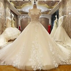Luxury Beaded Wedding Dress Sweetheart A Line Appliques Bridal Dress Real Photos