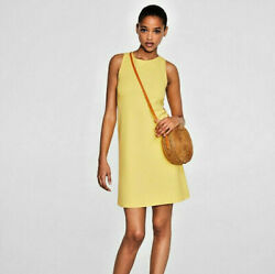 Mango Yellow Summer Dress Large L New With Tags NWT Zara ASOS $19.98