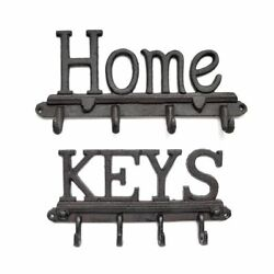 Cast Iron Key Clothes Rack Holder Home Wall Mounted Kitchen Bathroom Decoration