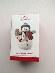 HALLMARK KEEPSAKE ORNAMENT - HAPPY HOLIDAY FRIENDS  2013 (NIB)