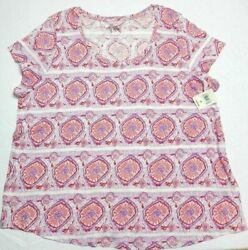 $40 = WOMENS short sleeve T SHIRT TOP = LUCKY BRAND = SIZE 3X = te46