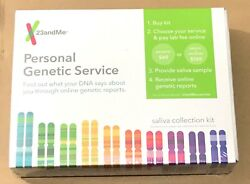 23andMe Personal Genetic Service DNA Saliva Collection Kit Ancestry +Health 2021