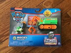 NEW Paw Patrol Rocky's Mini Crane Cart with Collectible Figure