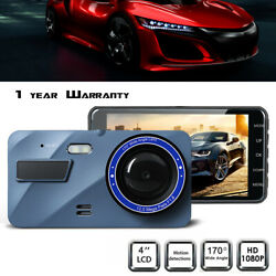 4 inch Full HD 1080P Car Camera Recorder Dual Lens Front and Rear Night Mode WDR