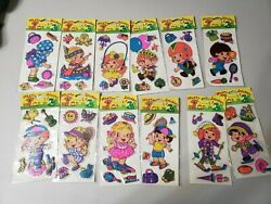 Vintage 80's or 70's Happy Stickers friends Puffy Unopened lot of 12 new kids