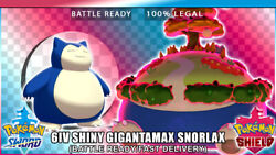 6IV Shiny Gigantamax Snorlax - Fast Delivery - Pokemon Sword and Shield -