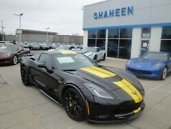 2019 Chevrolet Corvette 2LZ NEW RARE UNIQUE 2019 C7 Z06 COUPE 2LZ COMP SEATS NAV BLACK WITH YELLOW STRIPES