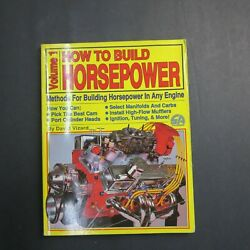 How To Build Horsepower  Volume 1 by David Vizard