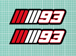 Marc Marquez mm 93 Stickers Decals X 2 - 150mm wide each!