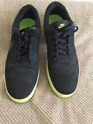 Nike Black And Lime Green Pre-Owned Sneakers EUC Size 11.5