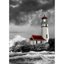 5D Lighthouse Diamond Painting Cross Stitch Embroidery Home Art Decoration Gifts $8.99
