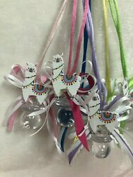 Colorful Llama Pacifier Necklace for Baby Shower Cute Party Favors; 12 pieces $10.99