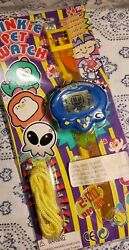 Tamagotchi Tako Seijin Blue Virtual Pet Space Creature Alien Lcd Watch ***RARE