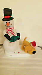 Christmas Novelty Animated Singing Snowman and Peeing Dog $49.99