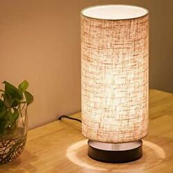 Lifeholder Table Lamp Bedside Nightstand Lamp Simple Desk Lamp Fabric Wooden