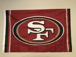 San Francisco 49ers Large Outdoor SF NFL Flag Banner 3X5FT fast free shipping $13.00