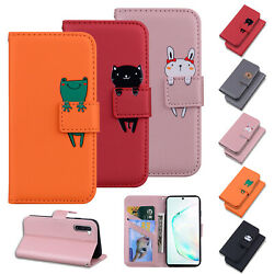 Case For Samsung Galaxy S10 Plus S9 S8 S7 Cover ShockProof Hybrid Leather Cute $9.49