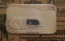 Charles Prime Properties COMMERCIAL 999 SILVER ART BAR 1 Troy oz Rare NEW YORK $64.97