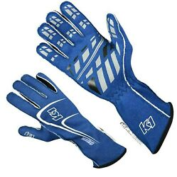 K1 Track 1 Blue X Large SFI 5 Racing Gloves Nomex 2 Layer Auto Kart Dirt Gloves $79.00