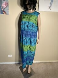 "Sag Harbor Dress Size 16W Boho Maxi Dress Length 50"" $18.00"