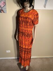 "Miss Scarlett Size 14 Floral Paisley Boho Maxi Dress Length 54"" $12.00"