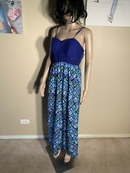 "Xhilaration Size L Crochet Maxi Dress Length 55"" $10.00"