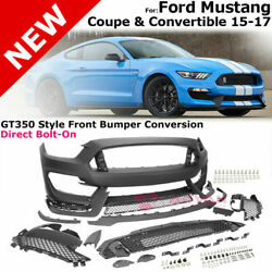 For 15 17 Ford Mustang GT350 Style Retrofit Conversion Kit Front Bumper Full Kit $3619.49