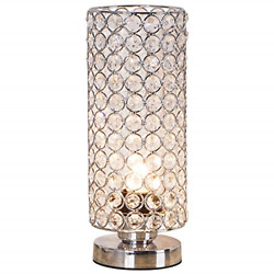 Crystal Table Lamp Nightstand Decorative Room Desk Night Light Bedroom Kitchen