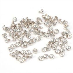 8mm Diamante Crystal Rivets Studs for Havaianas Clothes Shoes Decoration GBP 5.90