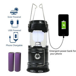 Rechargeable LED Camping Lantern Collapsible Flashlight Portable Lamp w Battery $11.89