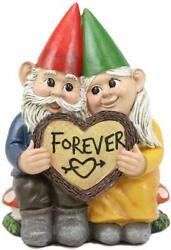 Ebros Whimsical Mr and Mrs Gnome #x27;Forever Love Struck#x27; Couple Statue 6.25quot; Tall $24.49