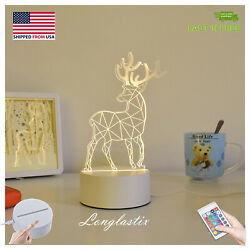 3D illusion Visual Night Color Changing Light LED Desk Table Lamp Bedroom Decor $12.99