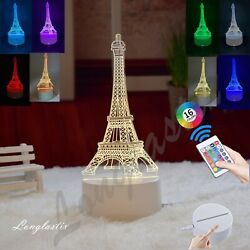 Eiffel Tower 3D illusion Visual Night Light LED Desk Table Lamp Bedroom Decor. $12.99
