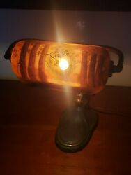 Handel Reverse Painted Scenic Desk Lamp - Excellent !