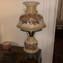 Vintage 1971 L&L WMC Gone With the Wind Hurricane Parlor Lamp Large
