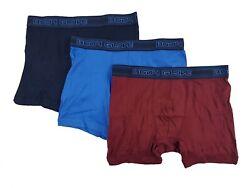 Body Glove Mens Cotton Boxer Briefs NavyBurgundyRoyal Blue Pack of 3   $20.99
