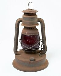 Vintage Dietz Railroad Lantern Little Wizard Red Glass Little Giant So. Counties $74.99