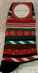 Charter Club Christmas Novelty Socks Women 9 11 NWT $7.00