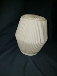 Vintage White Glass Light Shade 3quot; Opening $9.99