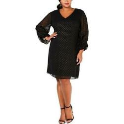 Signature by Robbie Bee Womens Plus Party Chiffon Cocktail Dress $22.50