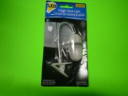 New ! Adjustable Angle Clip-On LED Book Light Great Portable Reading Light $5.48