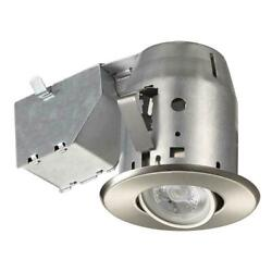 Commercial Electric 3 in. Brushed Nickel New Construction and Kit