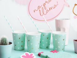 Llama Party Paper cups Cactus Tableware Kids Party Decorations Beach Tropical GBP 3.99
