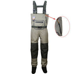 Fly Fishing Chest Waders Breathable Waterproof Stocking foot River Wader Pants $78.99