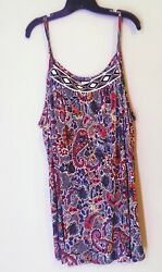 Women#x27;s Size 22 24 Sleeveless Tunic Top NWT Avenue Brand Plus Summer Shirt $19.99